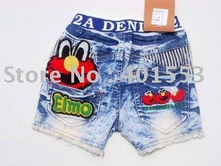 Mixed  Free Shipping Wholesale 10pc/lot children jeans,short pants,shorts baby clothing children's jeans fashion jeans/8871