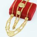 Наборы монет/Ювелирные Наборы Женщины Позолоченные Ожерелье Браслеты Колье Цепи Арабские Ювелирные Изделия