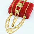 Coin Sets/Jewelry Sets Women Gold Plated Necklace Bracelets Set Choker Chains Arab Jewelry