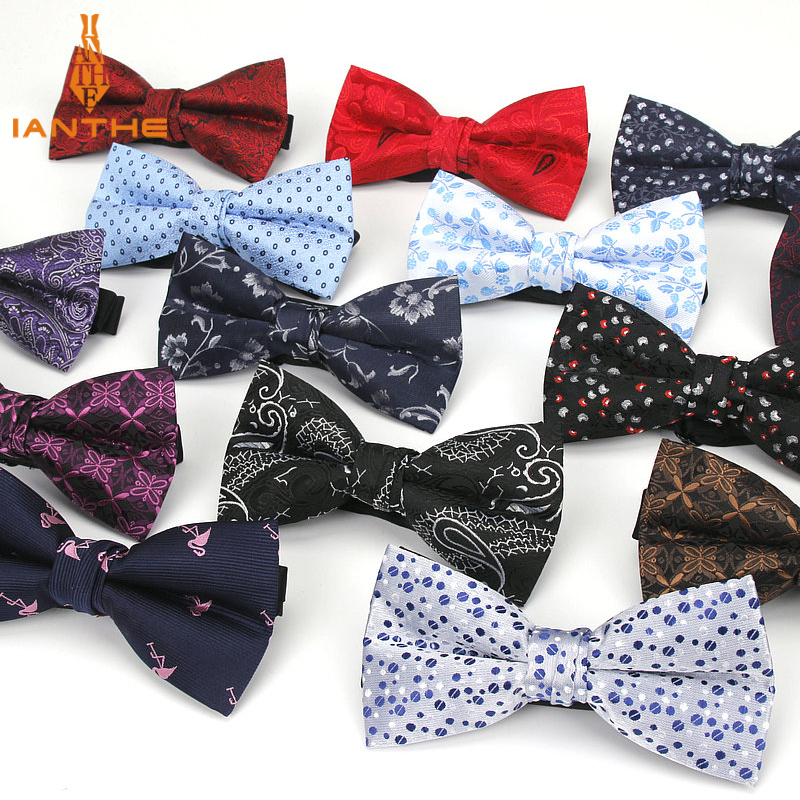 Bowtie Men Formal Dot Necktie Boy Men's Fashion Business Wedding Bow Tie Male Dress Shirt Krawatte Legame Gift Paisley Butterfly