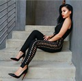 wholesale 2016 new Jumpsuits Black Stretch knit Tight fashion bandage Rompers(H1188)