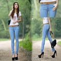 Fashion New Autumn Winter Beggar Pant Ripped Jeans For Women Low Waist Jeans Skinny Female Slim Feet Pencil Pants Women Trousers