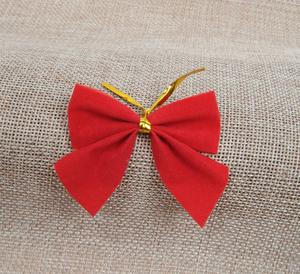 20pcs red velvet 3d bow tie christmas tree decorations year