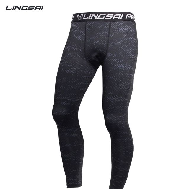 683ab597f13c8 Men Compression Tight Long Yoga Pants Sports Trousers Jogging Long Stretchy  Joggers Slim Fit Mallas Hombre Running