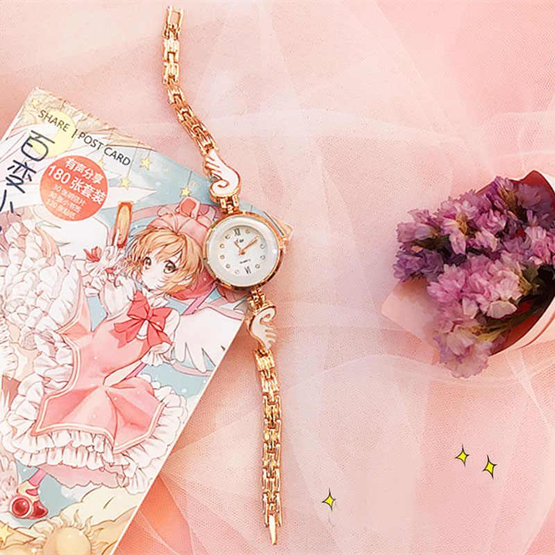 Anime card captor cardcaptor KINOMOTO sakura sailor moon takı bilezik kol saati aksesuarları değneklerini