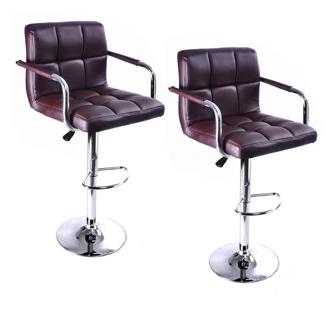 2 ШТ. Высокое качество Поворотный Офисная Мебель Компьютерный Стол Офисный Стул в ПУ Кожаный Стул барный стул Новый HW50133-2BN