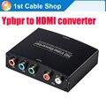 5 RCA компонентный Ypbpr к HDMI HDTV видео аудио конвертер адаптер с блоком питания (USB кабель ПОСТОЯННОГО ТОКА)