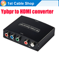 5 RCA Ypbpr component to HDMI HDTV video audio converter adapter with power supply(USB DC cable)