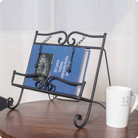 Iron Magazine Rack Display Iron Frame Menu Music Stand Sample Room Decoration Home Furnishing Soft Outfit