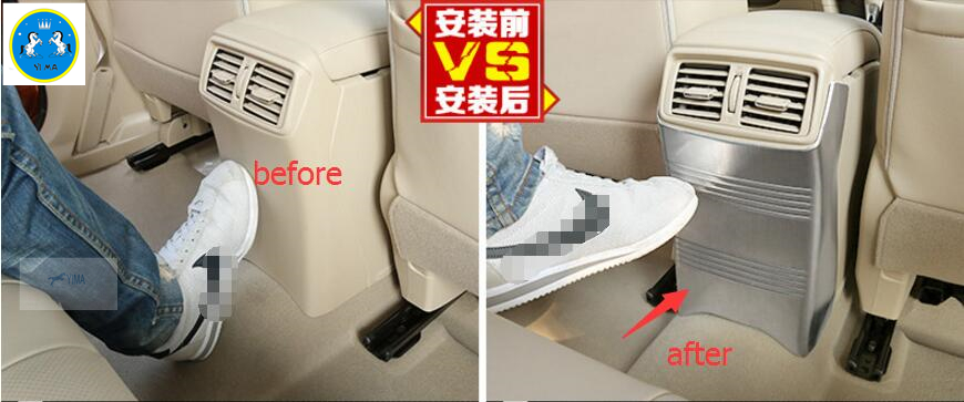 For Nissan X-Trail T32 Rogue 2014 2015 2016 Stainless Steel Rear Storage Box Anti Kick Protector Panel Cover Trim 1 Pcs for nissan x trail xtrail t32 rogue 2014 2015 2016 stainless steel inner built rear bumper trim plate lamp threshold pedal 1pcs