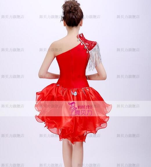 c5c8bdfcd8 one piece skirt costumes fashion DS Christmas DJ clothing sexy clothes  female singer dancer star bar show prom dress red blue-in Chinese Folk  Dance ...
