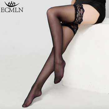 Ladies Womens Lace High Stocking