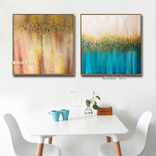 Hand painted home decorative Canvas painting wall pictures Wall Art picture Modern Gold Oil Painting for Living Room Decoration стоимость
