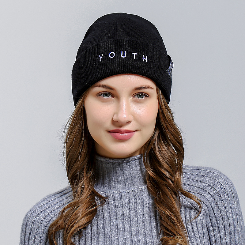 New Ladies Women Casual Knitted Beanies Hat Stylish Female Autumn Winter Soft Warm Skullies Snow Cap Fashion Accessories toyouth skullies beanies 2017 autumn women letters jacquard warm thicken knitted hat female