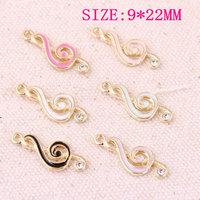 Wholesale Enamel Jewelry Charms 120PCs 30PCs Trendy Music Logo DIY Bracelet Necklace Floating Pendant Charm Ornament