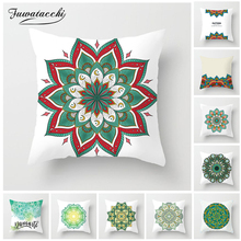 Fuwatacchi Tropical Plant Floral Decoration Print Mandala Cushion Cover Throw Pillow Sofa Home Decorative Pillowcase цены