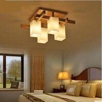 Потолочные светильники Nordic Творческий Дерево светодиодный светильник гостиная потолочный светильник спальня потолок татами китайский ст