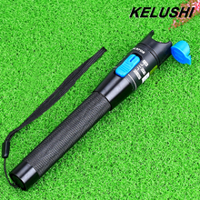 KELUSHI 1mW Red Light Source Metal Fiber Optic Cable Tester Visual Fault Locator1-5km Fiber Checker Finder