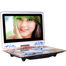 13 inch Portable Games 3D HD Big screen DVD EVD Player mobile theater machine video singing with TV Card MP3 Speaker game music