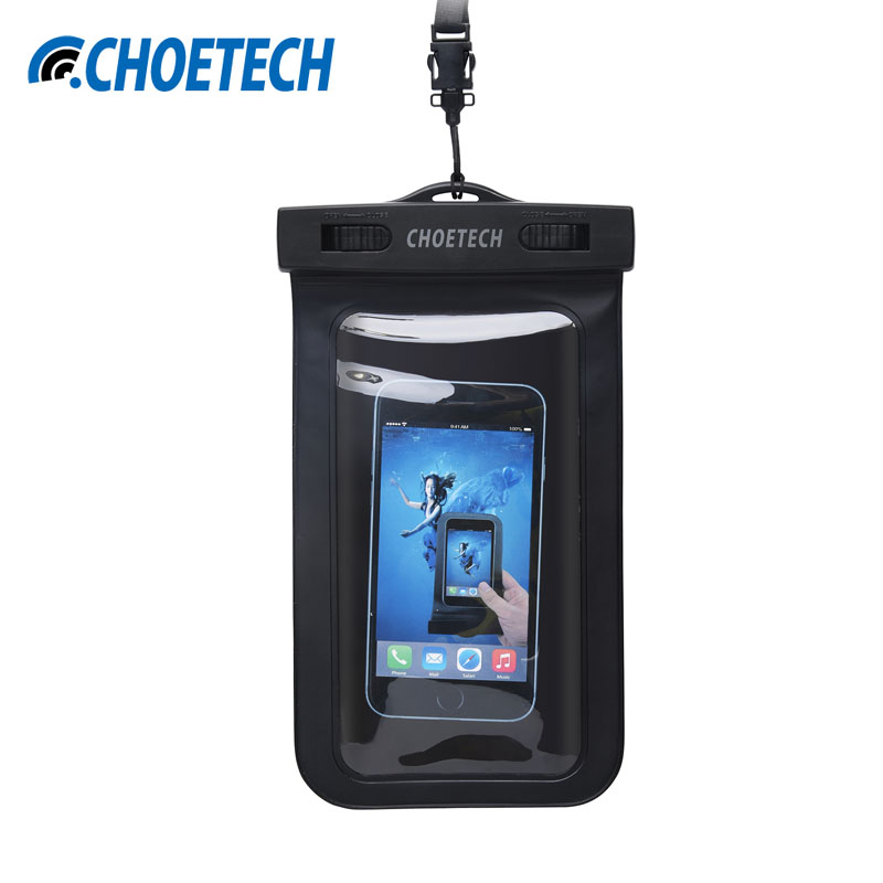 CHOETECH 30M Waterproof Pouch Universal Mobile Phone Bag Swimming Case Easy Take Photo Underwater For iPhone 6 6S For Samsung S8