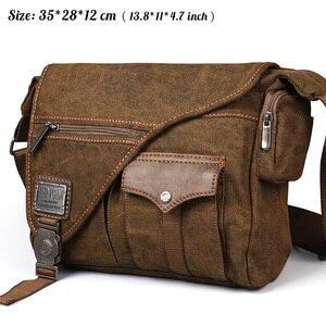 Image 2 - Ruil Bolso de lona multifunción para hombre, bandolera Retro, bolsas de viaje, bolsa de mensajero de hombro, paquete de ocio, novedad de 2018