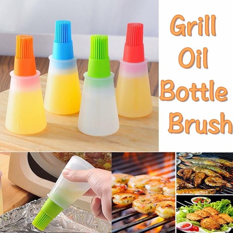 Silicone Kitchen Tool Brush /& Bottle Baking Basting Barbecue Pancake Honey