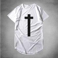 2016 New Brand Cotton Tee Shirt Short Sleeve Mens T Shirt Printed Casual Men Tshirt Cross