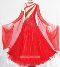 Large Size Ballroom Competition Dancing Dress Red Women High Quality Fashion Waltz Tango Ballroom Dance Dresses