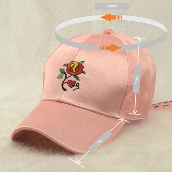 6a34d12f5c2 Fashion Korean Summer Men And Women Baseball Cap Rose Flower Embroidery Hat  Snapbacks Caps Unisex Hip Hop Hats H9