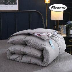 Chpermore high grade 100% ganso branco/pato para baixo colcha espessamento inverno consoladores quatro estações duvets100 % algodão capa