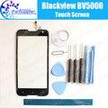 Blackview bv5000 digitador de vidro do painel de toque digitador da tela de toque 100% original garantia para blackview bv5000 + ferramenta + adhesive