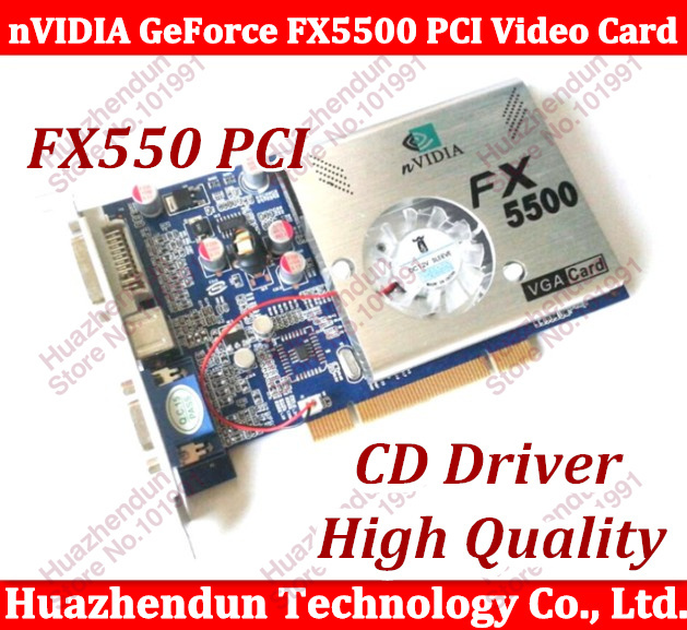 все цены на Free Shipping 100% NEW nVIDIA GeForce FX5500 256MB 128bit DDR VGA/DVI PCI Video Card 2PCS онлайн