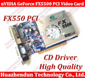 Free Shipping 100% NEW nVIDIA GeForce FX5500 256MB 128bit DDR VGA/DVI PCI Video Card 2PCS