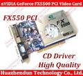 Frete grátis 100% novo nvidia geforce fx5500 256 mb ddr 128bit vga/dvi placa de vídeo pci 2 pcs