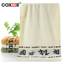 Coxeer 3 Stücke Waschlappen Handtuch Set Antibakterielle Weiche Microfaser Bambus Gedruckt Bad Handtuch Badetücher Für Erwachsene