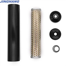 1/2 1/2-28 Thread  Fuel Filter For NAPA 4003/WIX 24003 and Smooth Bore End Black  Low Profile Billet Aluminum