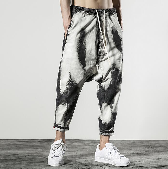 2019 Harem Hombre Pies Verano Personalidad Hombres Moda Retro Delgado Homme Pantalones Gris Para Suelto Pantalon RrxRqCgaw