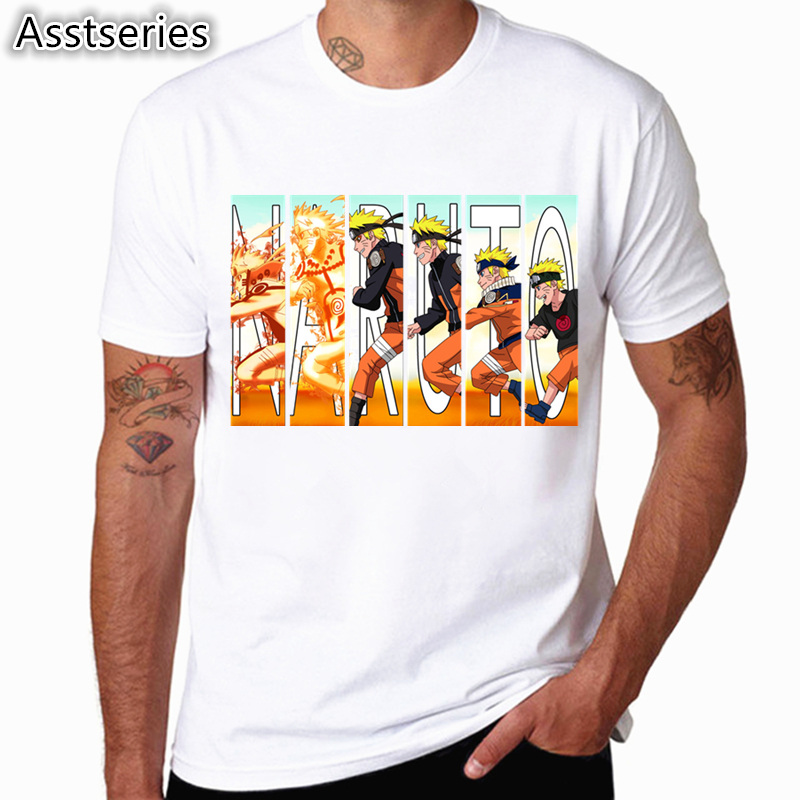 Asian Size Print Naruto   T     shirt   Men Print   T  -  Shirts   Fashion Print   T  -  Shirts   Short Sleeve O Neck Tees HCP4525