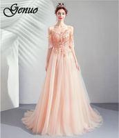 Genuo 2019 Fashion women summer maxi beach dress green v neck long dresss bohemian lantern sleeve boho dress femal party dress
