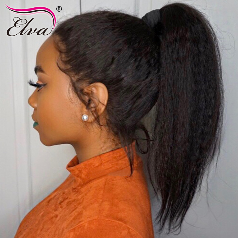 Kinky Straight Lace Front Wig 150 Density Lace Front Human Hair Wigs With Baby Hair 13x6
