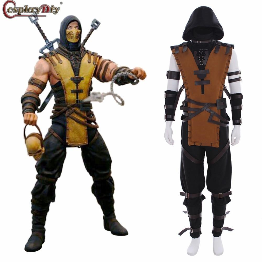 Cosplaydiy Game Mortal Kombat X Scorpion Hanzo Hasashi Cosplay
