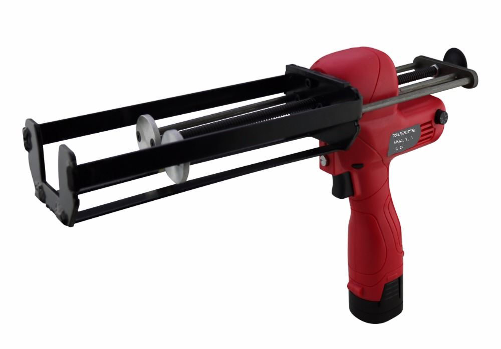 Free Shipping To Russia Preminum 600ml 1:1 Two Component Double Cartridge Battery Caulking Gun Electric Injection Gun