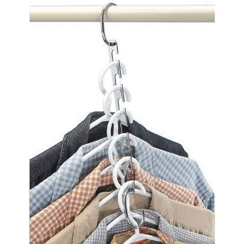 Home & Garden ... Home Storage & Organization ... 32603379949 ... 4 ... 6 Pcs/Set Shirts Clothes Hanger Holders Save Space Non-slip Clothing Organizer Practical Racks Hangers for Clothes Dropshipping ...