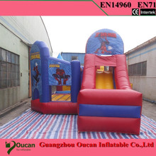 2016new commodity free shipping PVC 7.5×4.5x4m tarpaulin inflatable bouncers with slide for kids and baby