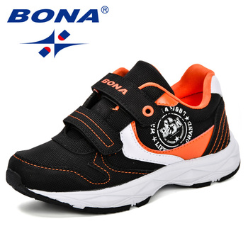 BONA Children Shoes Kids Boys Casual Sneakers Leather Fashion Sport 2019 Spring Autumn