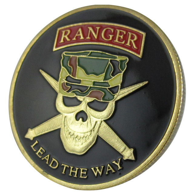 United States Army Ranger Lead The Way Gold Plated Challenge Coin