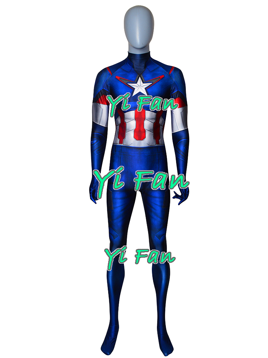Captain America Costume Age of Ultron Cosplay Costumes Zentai Catsuit Superhero Costume Halloween Bodysuit Jumpsuit