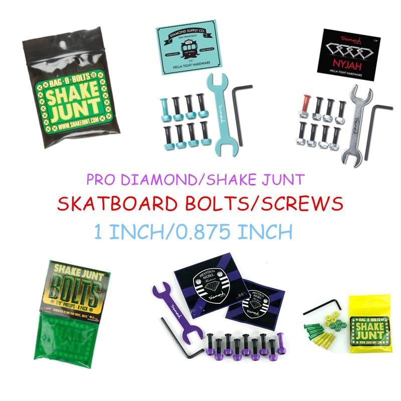 "Metal USA Brand Daimond Hardware Street Skate Screws Skateboard Bolts 7/8"" 1"" Set For Installing Skateboard Trucks Skate Board"