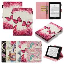 Funda For Amazon Kindle Paperwhite 1 2 3 4 Fashion 3D Print Pattern Leather Flip Wallet Magnetic Cases Cover Coque Shell Stand