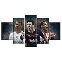 World Cup Barcelona Atletico Madrid 5 Piece Modern Painting Football Wall Art Canvas Picture For Living